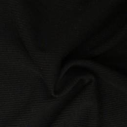 Ткань довяз рибана трикотаж черная (метр )