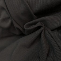 Ткань довяз рибана трикотаж серая (мышь) (метр )