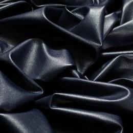 Ткань кожа стрейч тенмо синяя (метр )