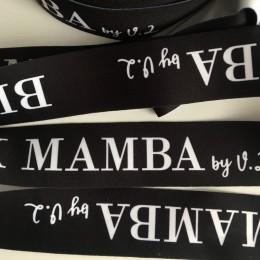 Резинка с логотипом BLACK MAMBA 40мм накатка (заказная) (метр )