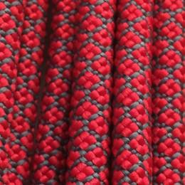 Шнурок круглый 6мм №32 1,25м красный с серым  (пара)
