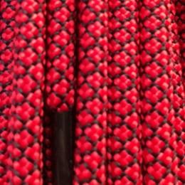 Шнурок круглый 6мм №32 1,25м красный с чёрным (пара)