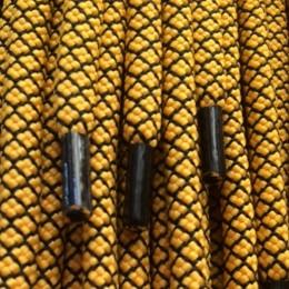Шнурок круглый 6мм №32 1,25м желтый с чёрным (пара)