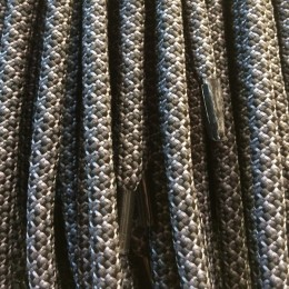 Шнурок круглый 6мм №32 1,25м чёрный с темно-серым (пара)