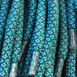 Шнурок круглый 6мм №32 1,25м морская волна с синим (пара)