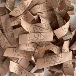 Этикетка жаккардовая вышитая ICON 20мм заказная (1000 штук)