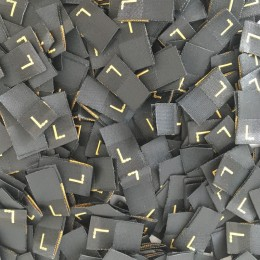 Размер жаккардовый L 10мм черный золото (1000 штук)