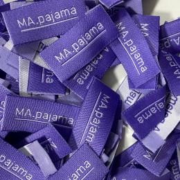 Этикетка жаккардовая вышитая MA pajama 15мм заказная (1000 штук)