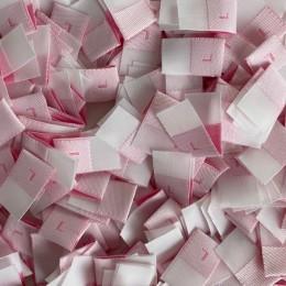 Размер жаккардовый L 10мм розовый малиновый (1000 штук)