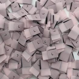 Размер жаккардовый L 10мм розовый черный (1000 штук)